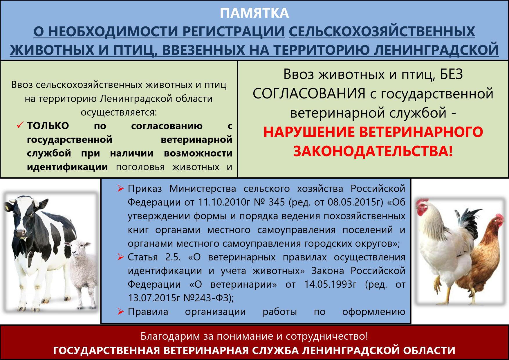 Памятка о регистрации птиц и животных_1